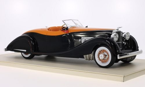 duesenberg-sj-gurney-nutting-speedster-black-orange-rhd-1935-model-car-ready-made-truescale-miniatur