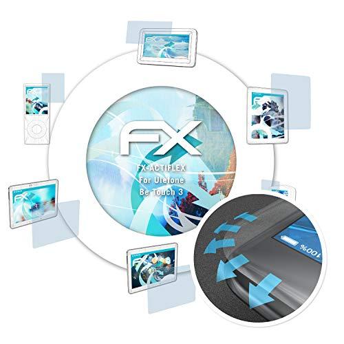 atFolix Schutzfolie passend für Ulefone Be Touch 3 Folie, ultraklare & Flexible FX Bildschirmschutzfolie (3X)