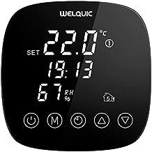 WELQUIC Termostato Inteligente WiFi 7 Días Programables Uso Facil Pantalla Táctil Digital Control Preciso de la