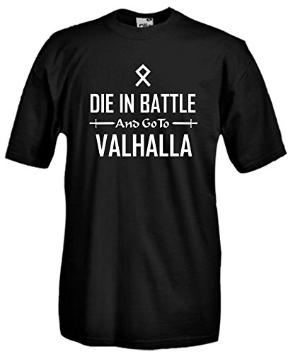 Settantallora - T-shirt Maglietta J872 Did in Battle and go to Valhalla Taglia L