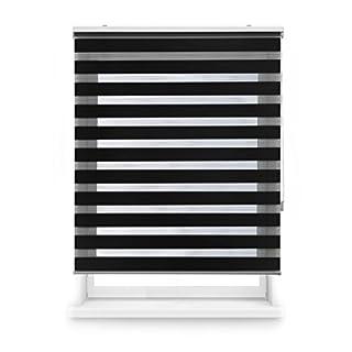 Blindecor Nd200 Store-Double Tissu occultant Jour et Nuit 120 x 250 cm Noir