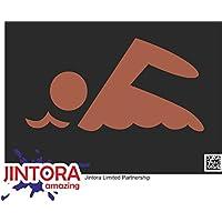 JINTORA Etiqueta para el Coche/Etiqueta engomada - Flotador - 188x99 mm - JDM/
