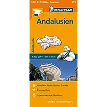 Michelin Andalusien: Straßen- und Tourismuskarte 1:400.000 (MICHELIN Regionalkarten)