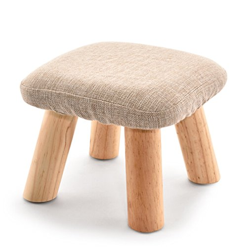 Uus Massivholz-Quadrat-Schemel, Sofa-Schemel-Gewebe-kleine Bank-Pilz-Schemel-niedrige Schemel-Mode-kreative Schuh-Bank 28 * 28 * 21cm -