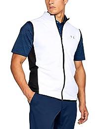 Chaleco de golf para Hombre Under Armour 2017ColdGear, cremallera completa Reactor Hybrid, hombre, color blanco, tamaño medium