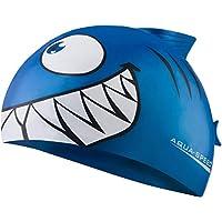 Aqua Speed Shark - Swimming Cap for Child, 100% Silicone, Elastic And Adaptable, Shark Design, Infant, - Shark / blau /01