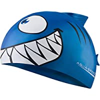 Aqua Speed - SHARK Niños Gorro de baño | Tiburón | 100% Silicona, Model:Shark/azul / 01