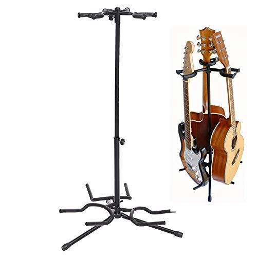 Stativ Gitarrenständer,Verstellbarer Höhe Dreifach-Gitarrenständer, Dreifacher Stand für Universalgitarre (3-fach Faltbarer) (Verstellbare Stand-fach)