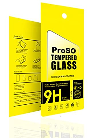[2 stück] ProSO Panzerglas Schutzfolie für Apple iPhone SE / 5s / 5c / 5 Display Folie aus gehärtetem Glas • 9h Härte • Anti Kratzer • Ultra-Dünn • Abgerundet (2.5D) • Anti-Bläschen •