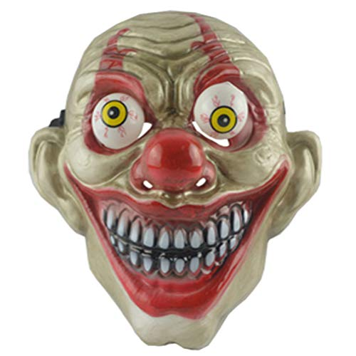 Böse Girl Clown Kostüm - Amosfun Clown Streich Maske Halloween Horror gruselige Maske für Kinder Halloween Kostüm Party Cosplay