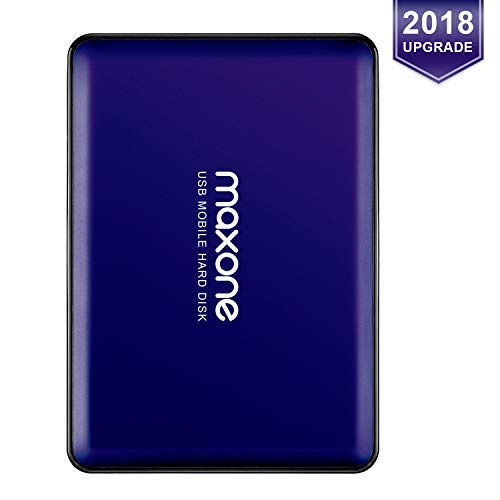 Maxone 160GB tragbare externe Festplatte USB 3.0 für Laptop / Desktop / Wii U / Macbook / Chromebook (Blue)