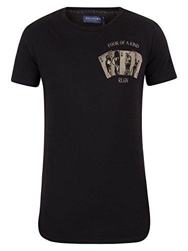 Religion Uomo Quattro Di Una T-Shirt Kind, Nero Nero