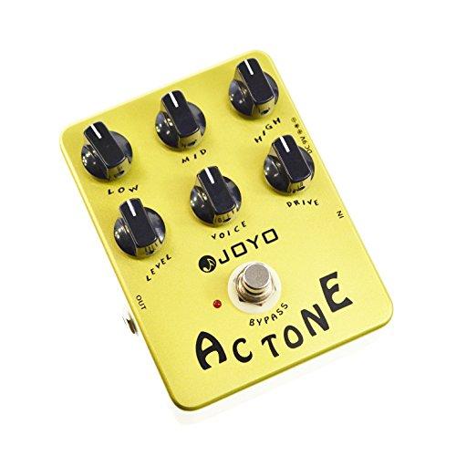 Joyo JF-13 - Pedal multiefecto para guitarra (batería zinc carbono), color amarillo