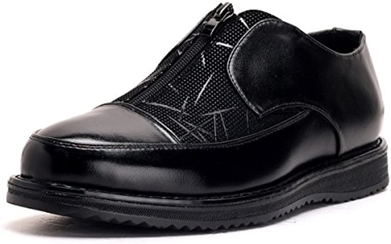 LYZGF Männer Jugend beilaumlufige Moderne Breathable Reißverschluss Leder Schuhe
