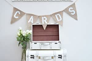Hessian Shabby Chic, Wedding 'Cards' Banner / Bunting