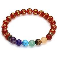 CrystalTears 7 Chakra Schmuck Om Mani Padme Hum Armband Damen Herren Energietherapie Yoga Buddha-Armband 8mm Perlenarmband... preisvergleich bei billige-tabletten.eu