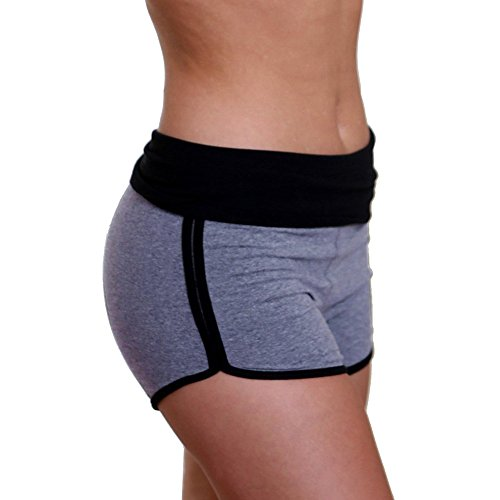 Ncenglings Damen Tights Shorts Sport Kurze Hosen Frauen einfarbig schnell trocknend atmungsaktiv Yoga Shorts Workout Gym Bike Running Activewear Sport Fashion Hot Pants Laufshorts -