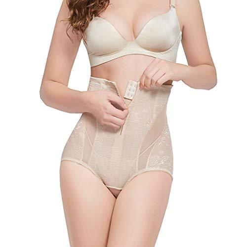 ❤TIFIY Korsett Damen Body Shaping Pants Control Slim Bauch Korsett Shapeware Körperformung Nach der Geburt verfügbar Repariert Täglich Prägnant Corsagen(Beige,XL) -