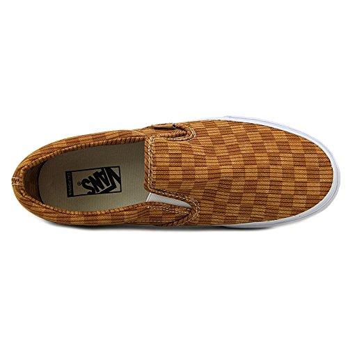 Vans Classic Slip-On (Washed Herringbone) mixte adulte, toile, sneaker slip on washed herringbone gold check