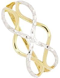 7a41f1a8c4fa MyGold Mujer Anillo Oro Blanco Oro Amarillo 333 Oro (8 quilates) bicolor  sin piedras