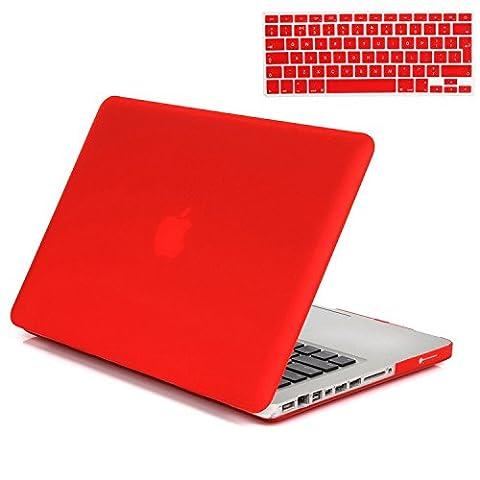 Gosin® 2 in 1 Ultra Slim Matte Plastic Rubberized Hard Protective Case Cover & Keyboard Skin for Macbook Pro 13''