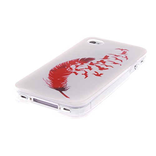 MOONCASE iPhone 4 4S Case Coque Housse Silicone Etui Case Soft Gel TPU Cover pour iPhone 4 4S -TX10 ST10