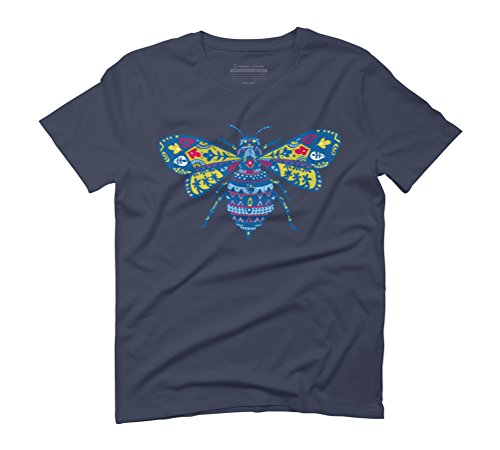 Fantastic Bee in Color Men's Graphic T-Shirt - Design By Humans Navy