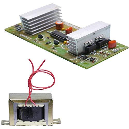 Nktronics 200watt 12 Volt Inverter Board with 100watt 220volt Inverter Transformer Combo Pack of 2 pcs with Connection Diagram