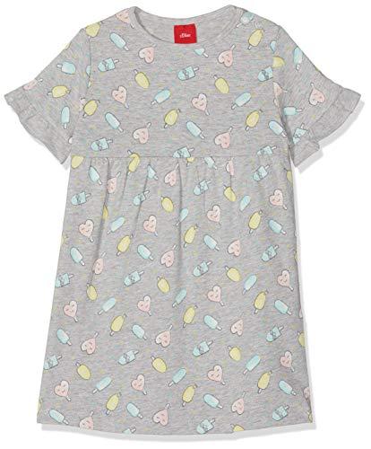 s.Oliver Baby-Mädchen 59.906.82.5359 Kleid, Grau (Grey Melange AOP 94a1), (Herstellergröße: 62)