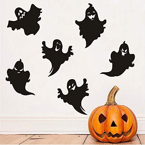 (Mhdxmp 6 Stücke Vielzahl Halloween Ghost Diy Wandaufkleber Für Kinderzimmer, Hallowmas Vinyl Transfer Abziehbilder Dekoration Zubehör)