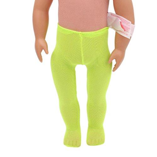 HKFV Hochwertige Leggings für American Girl Puppe 18 Zoll Puppe Zubehör 18-Zoll-American Puppenkleider Strümpfe Strumpfhosen (Grün)
