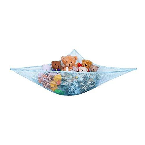 Yuccer Spielzeug Hängematte, Aufbewahrung Netz für Kuscheltiere Hängetasche für Kinder und Kleinkinder Spielzeug Veranstalter Storage Net (Blau)