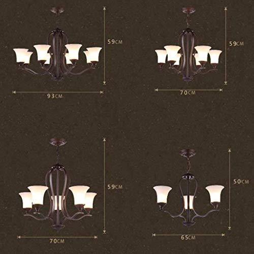 DJY-JY Forma lámparas Pendientes de País Retro Sala de Estar de la...