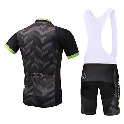 Moxilyn Abbigliamento Ciclismo da Uomo,Maglia Manica Corta+Pantaloncini