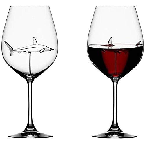 N-A Creativa copa de vino Tinto copas de champán de Cristal tazas de té creativo tiburón vidrio jugo Taza Leche Taza de café Navidad
