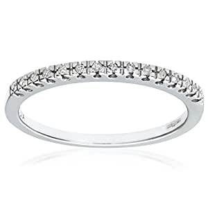 Naava 9 ct White Gold Diamond Classic Eternity Ring