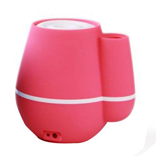 HF Morgen Vase Luftbefeuchter USB Tragbarer Ultraschall Luftbefeuchter Kalten Nebel Luftbefeuchter Auto Flüsterleise Luftreiniger 2 Stunden Automatisch Abgeschaltet für Haus, Büro, SPA, Schlafzimmer (112*116*100mm, Rosa Red)