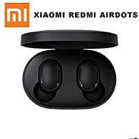 Xiaomi redmi airdots TWS Bluetooth 5.0 Earphone Stereo Wireless Active Noise Cancellation With Mic Handsfree Earbuds AI Control (Black)