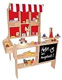Beluga Spielwaren 30860 - Kaufladen aus Holz Maߟe: 100 x 78 x 66 cm mit Dach