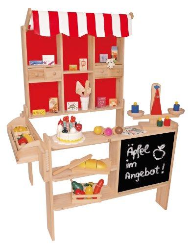 Beluga Spielwaren 30860 - Kaufladen aus Holz Maß?e: 100 x 78 x 66 cm mit Dach Preisvergleich