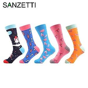 LILIKI@ 5 Paare/Los Lustige MusterObst Muster Frauen Gekämmte Baumwolle Crew Bunte Glückliche Socken Neuheit Hochzeitsgeschenke