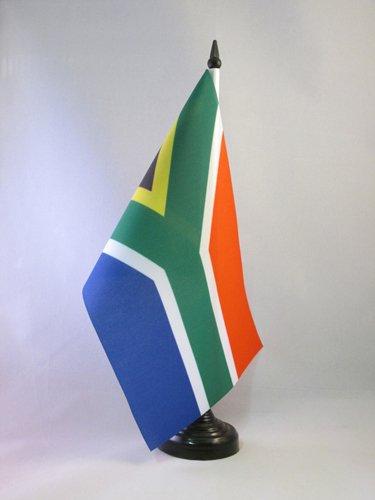 AZ FLAG TISCHFLAGGE SÜDAFRIKA 21x14cm - Republik SÜDAFRIKA TISCHFAHNE 14 x 21 cm - flaggen
