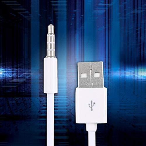 Bianco Utile Ultra Portable Fast USB 2.0 Trasferimento Dati Cavo del Caricabatterie SYNC per Apple iPod Shuffle dalla 1 alla 2