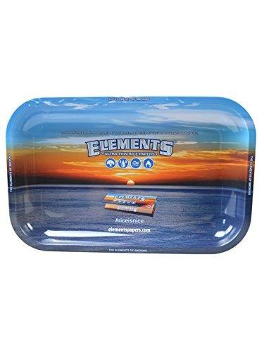 Elements Medium Metal Tobacco Rolling Tray 34cm x 27cm by Elements Metal Tray
