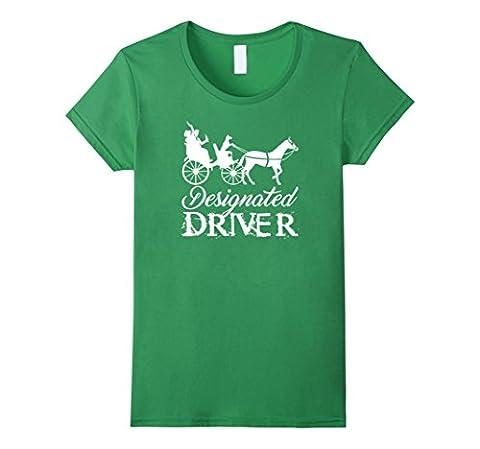 Women's PREMIUM Hilarious Doggy Designated Driver T-shirt Medium Grass