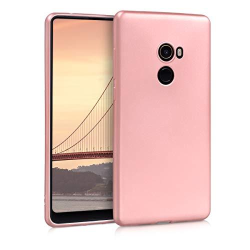 kwmobile Xiaomi Mi Mix 2 Hülle - Handyhülle für Xiaomi Mi Mix 2 - Handy Case in Metallic Rosegold