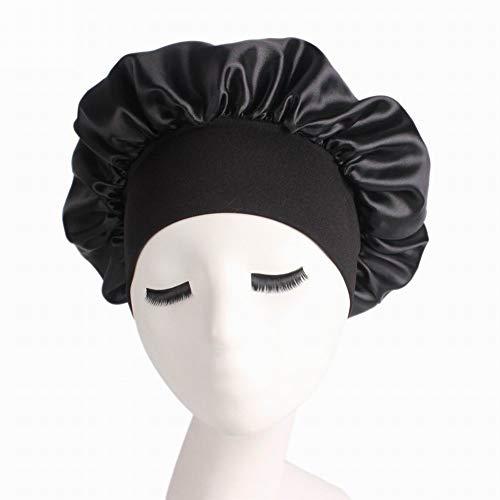 YOUNICER Elastic Band Traceless Satin Schlafkappen für Frauen Salon Bonnet Hair Loss Cap