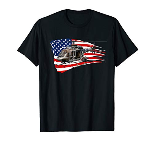 Helicopter American Flag T-Shirt