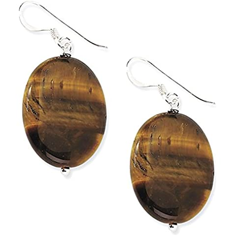 Di Sterling Silver Tiger Eye ORECCHINI