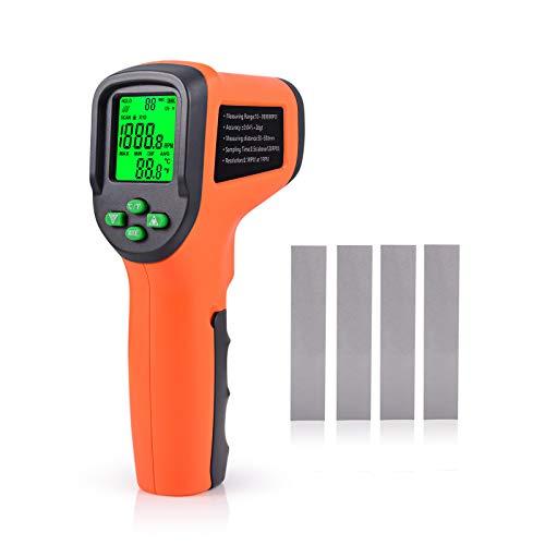 Geschwindigkeit Elektrische Feld (Winjun Professional Digital Tachometer Berührungslos Drehzahlmesser mit Große LCD Anzeige Schutzhülle Reflexstreifen Für Industrie Auto Elektromotoren Messwerkzeug)